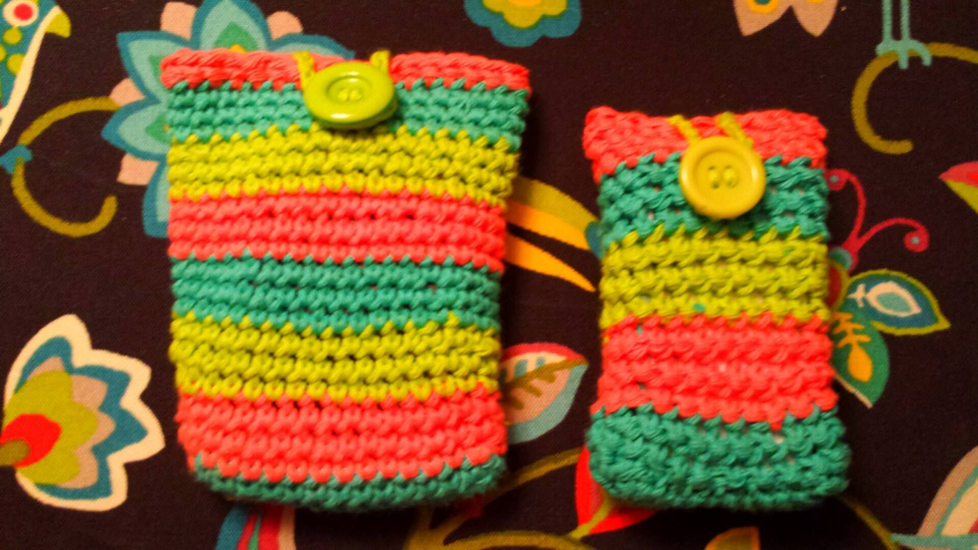 Cell phone case and cigarette case | Things I have crocheted for ...