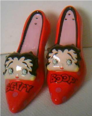 Vandor Betty Boop Red High Heel Shoes Salt & Pepper Shakers