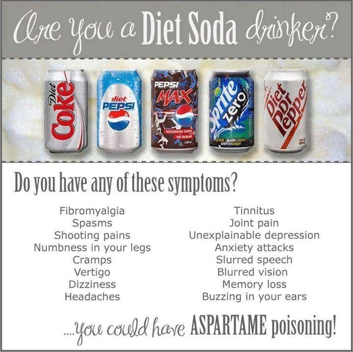 aspartame health risks from diet pop
