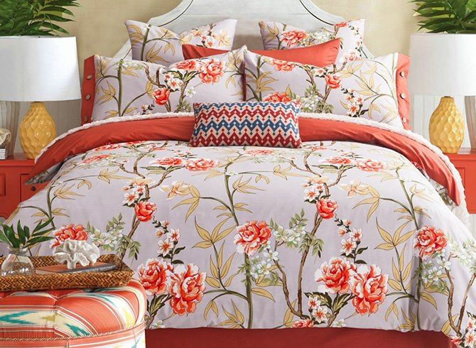 Multi Colored Orange Bedding And What The Color Orange Says About You Full Bedding Sets Bedding Sets Bed Linen Sets