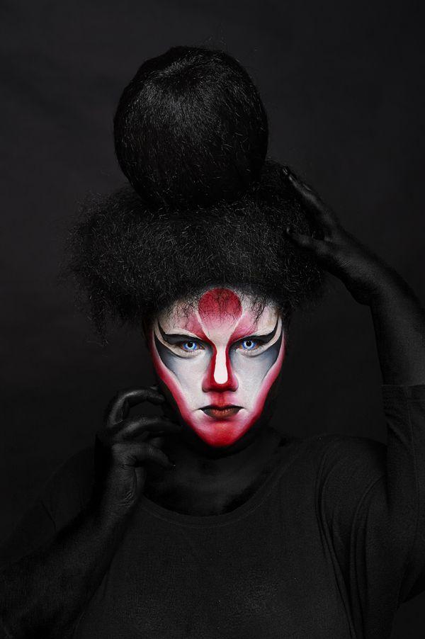 Sesion Maquillaje Fantasia En Colors Up Escuela De Maquillaje - Maquillaje-profesional-halloween