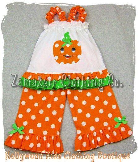 Custom Boutique Clothing Pumpkin Pillowcase by ZamakerrClothingCo - 18 month halloween costume ideas