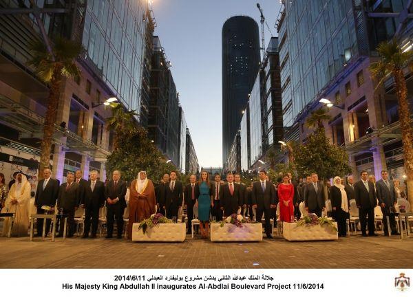 الملك دشن بوليفارد العبدلي صور Majesty King Abdullah Boulevard
