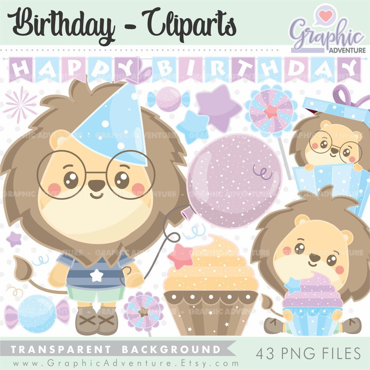 Birthday Clip Art Birthday Graphics Commercial Use Lion Clipart Hapy Birthday Animal Clipart Gift Clipart Celebrati Birthday Clips Art Birthday Clip Art
