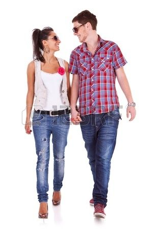 Casual Couple Is Walking Towards The Camera Looking At Each Other Couples Walking Casual People Png