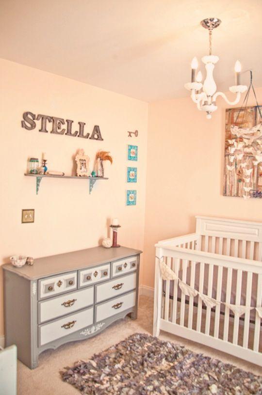 My Baby Girl S Nursery: Stella's Peach & Gray Handmade Room Nursery Tour- My Girl