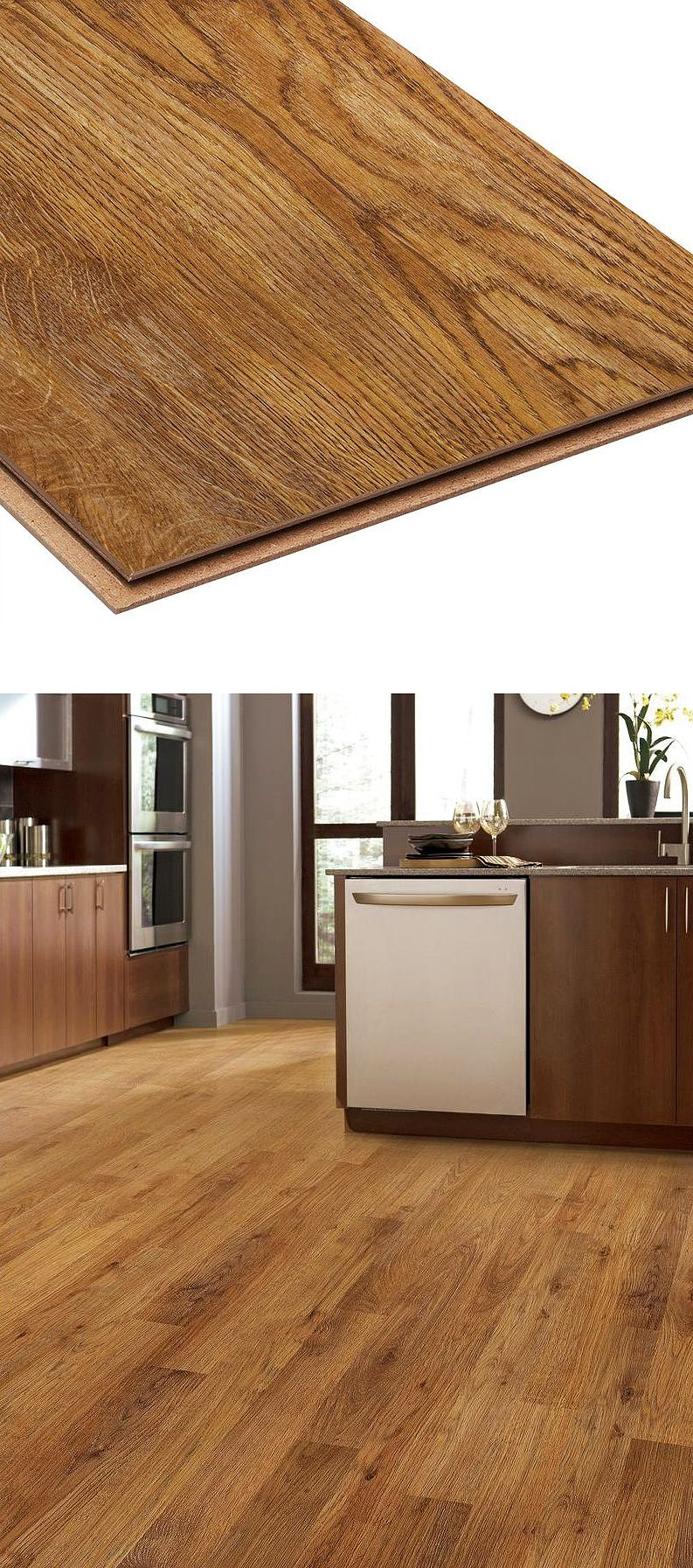 Laminate flooring is a great way to give your kitchen the - Laminate kitchen flooring ideas ...