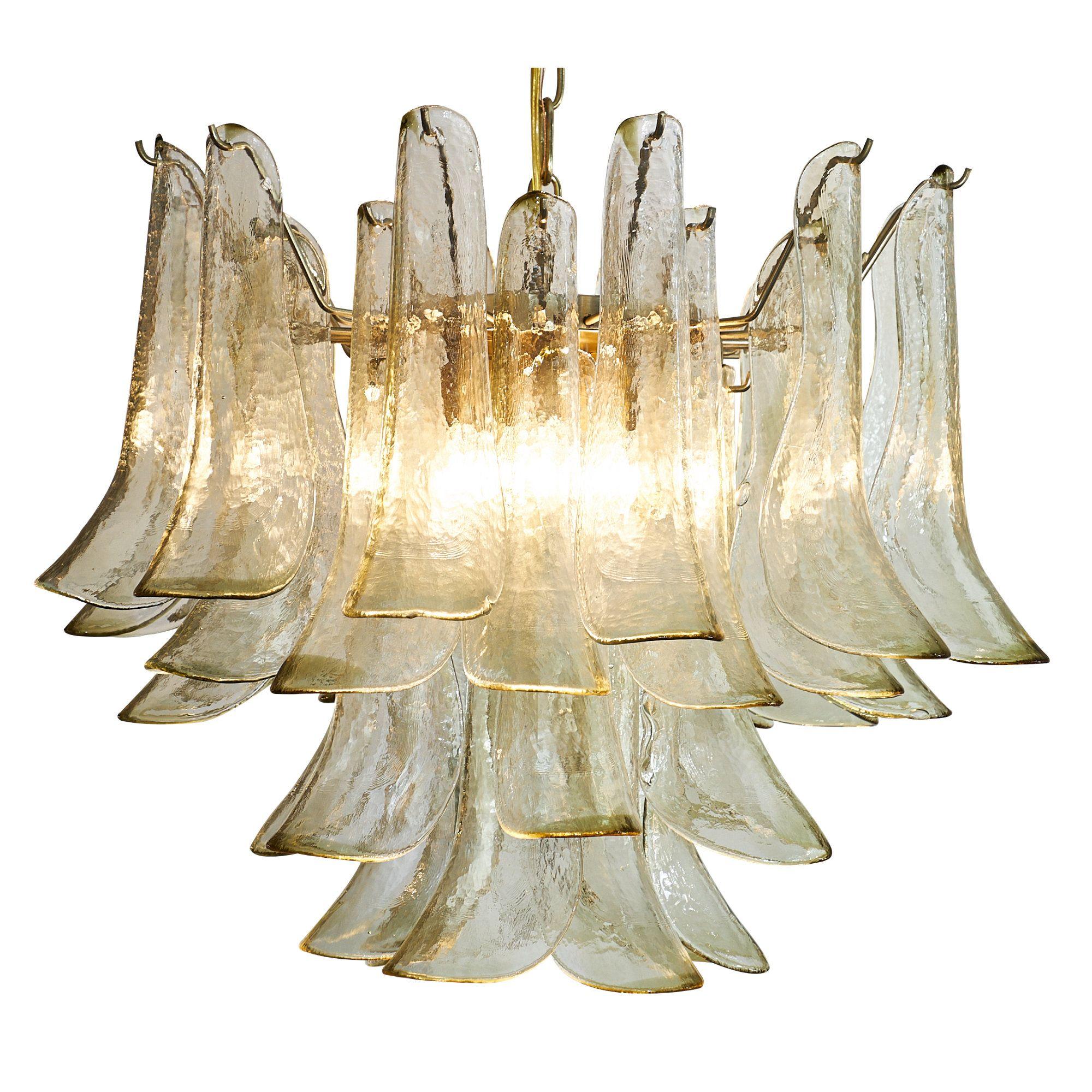 Murano Glass Petal Chandelier | Murano glass, Chandeliers and Glass