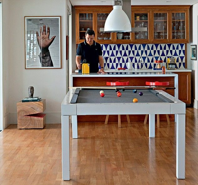 Cozinha integrada | Pool table, Kitchens and Spaces