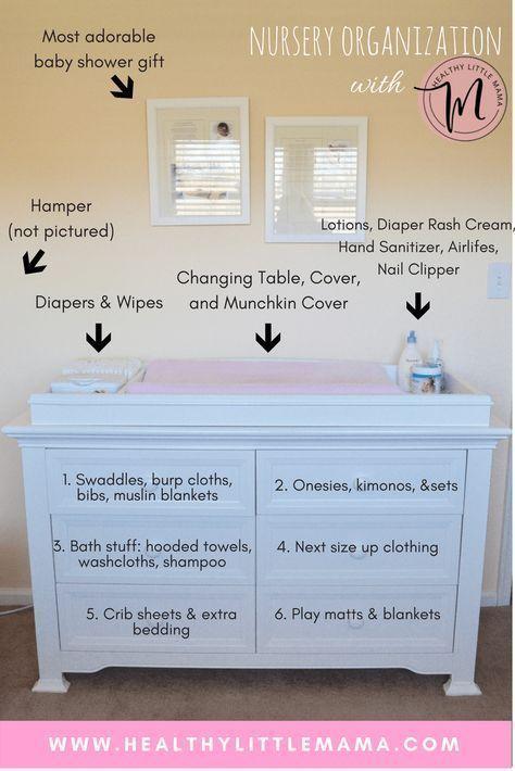 Nursery Organization Dresser – gesunde kleine Mutter – Babyzimmer Ideen   – Babyzimmer ideen