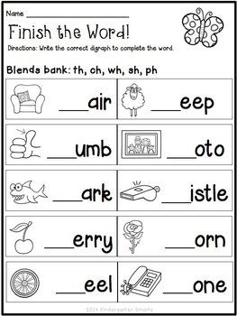 Spring Math And Literacy Worksheets Free Phonics Worksheets