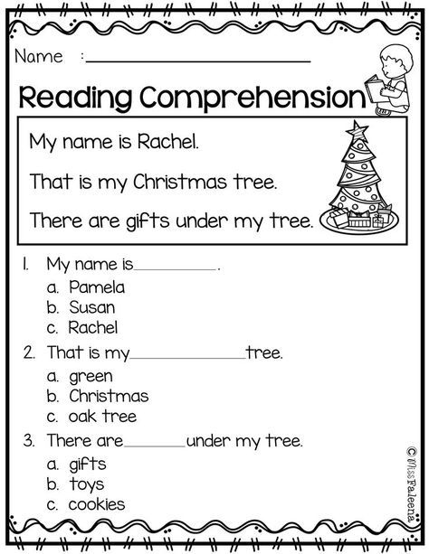 Free Reading Comprehension Reading Comprehension Reading Comprehension Worksheets Reading Comprehension Kindergarten