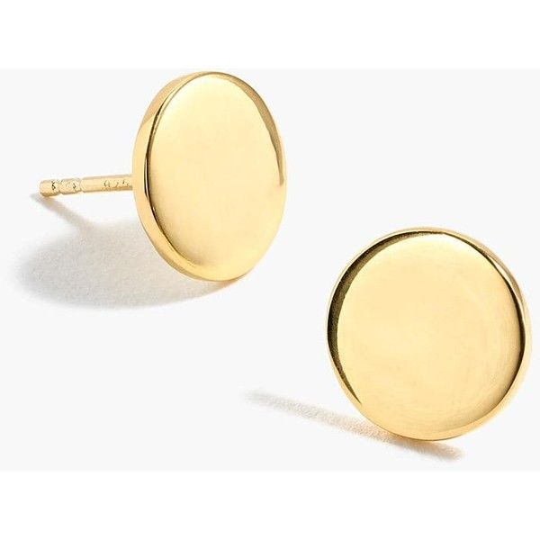 J Crew Demi Fine 14k Gold Plated Disc Stud Earrings 68 Liked On Polyvore Featuring Jewelry Jewellery