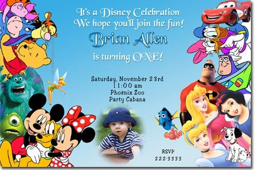 Mickey muose and gang house disney birthday invitations Sofias