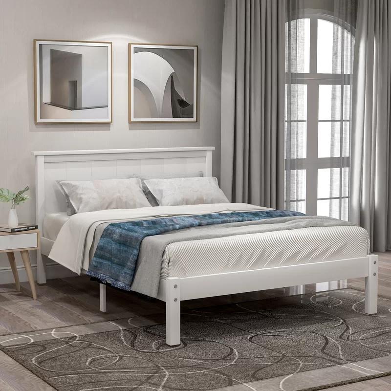 Shauna Debbra Platform Bed In 2020 Wood Platform Bed Buy Bed Frame Bed Frame And Headboard