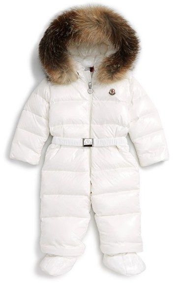 eb711c9aa988 Infant Girl s Moncler Crystal Down Snowsuit With Genuine Fox Fur ...