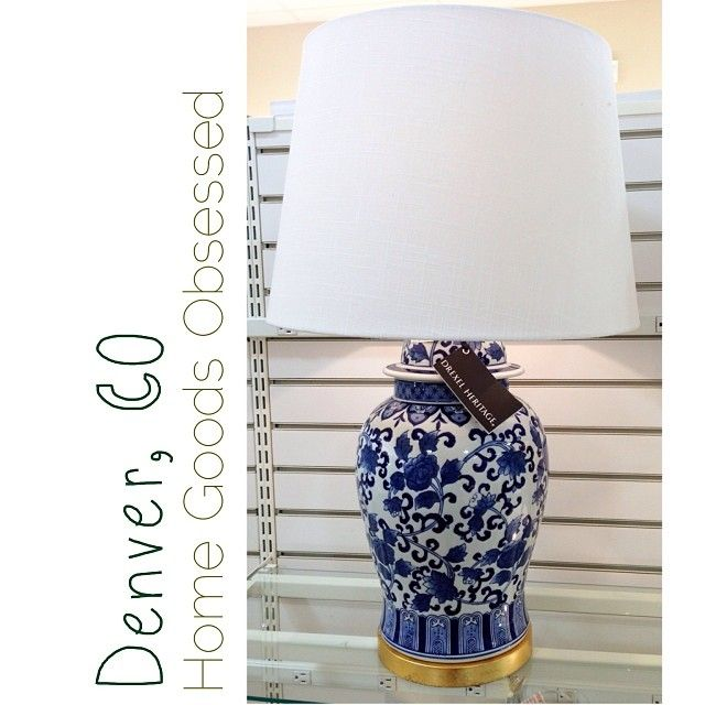 Gorgeous Drexel Heritage Blue And White Lamp 99 99 Homegoodsobsessed Blue And White Lamp Home Goods Blue And White