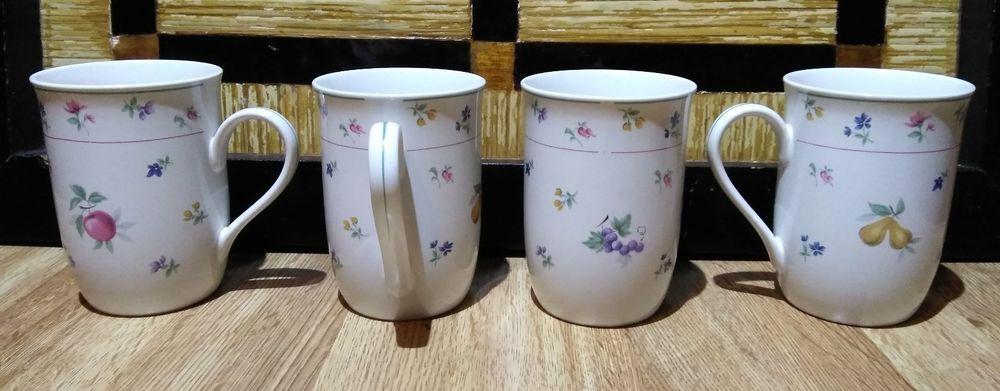 Arita New Traditions Japan Orchard Coffee Cup Fruit Flower Pattern Mug Set Of 4 Aritanewtraditions Traditional Mugs China Dinnerware Mugs