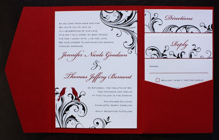 17 images about Wedding invitations – Black Red and White Wedding Invitations
