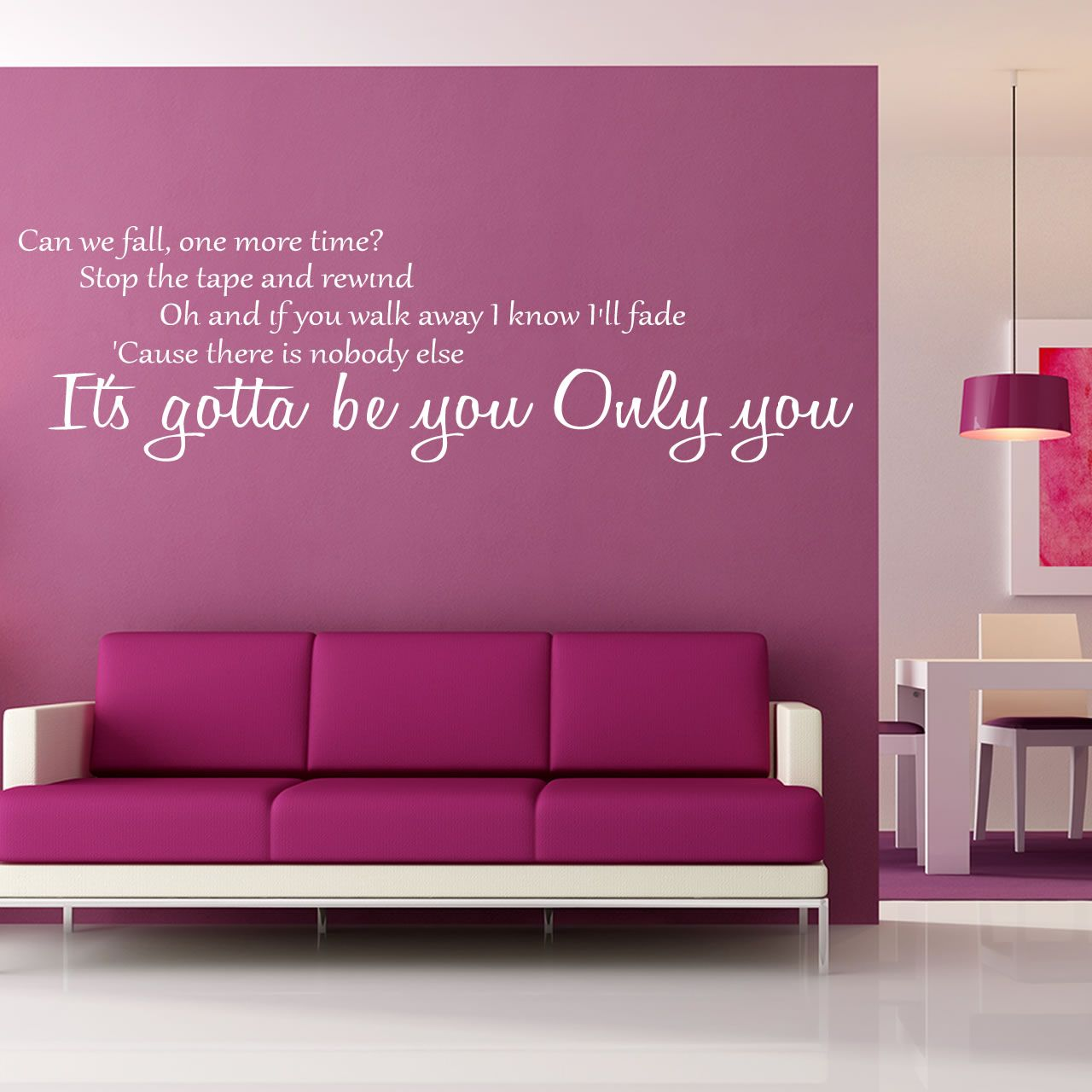 One Direction Gotta Be You Quote Wall Stickers Wall Decals - One direction wall decals