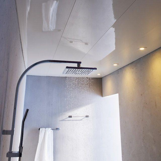 Lambris PVC blanc brillant 400cm - CASTORAMA Salle de bains et WC