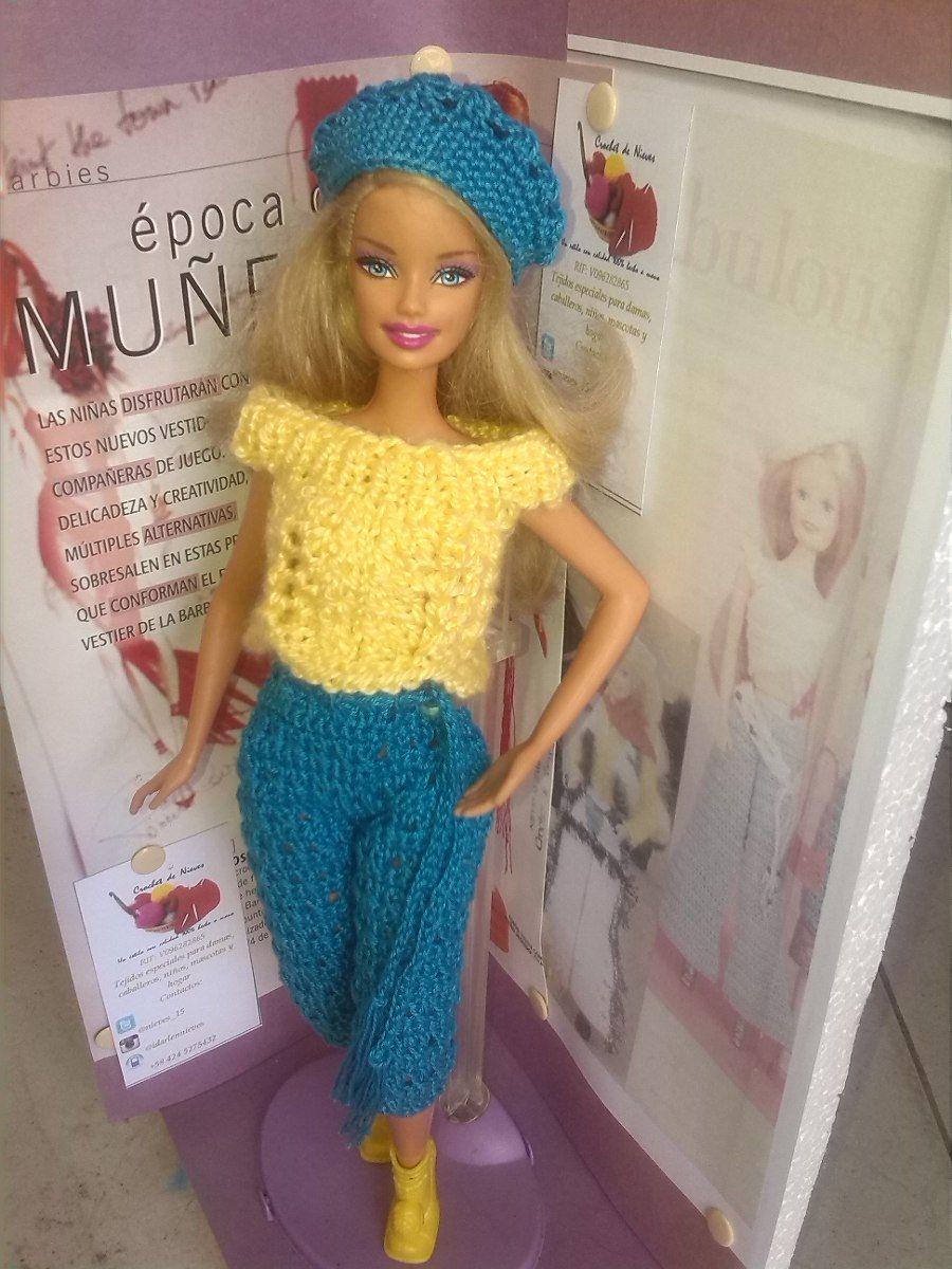 ropa tejida para muñecas   Crochet de Nieves   Pinterest   Ropa de ...