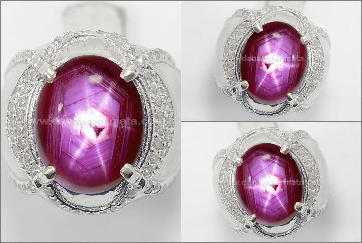 Super Sharp Star Strong Red Ruby Cabochon Rbs 321 Cincin Mata