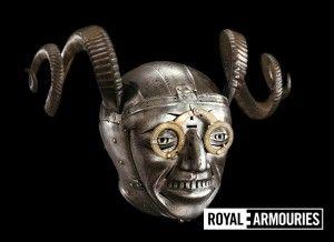 Henry VIII helmet with glasses