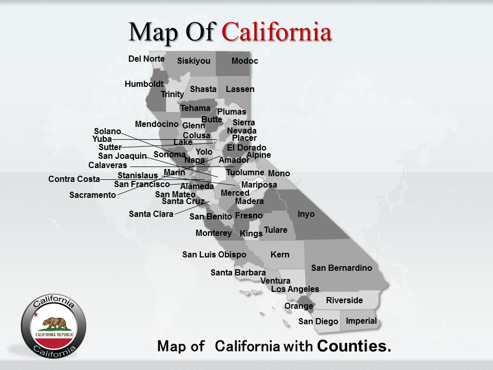 California map powerpoint ppt template is created by professionals california map powerpoint ppt template is created by professionals it is a useful tool for toneelgroepblik Image collections