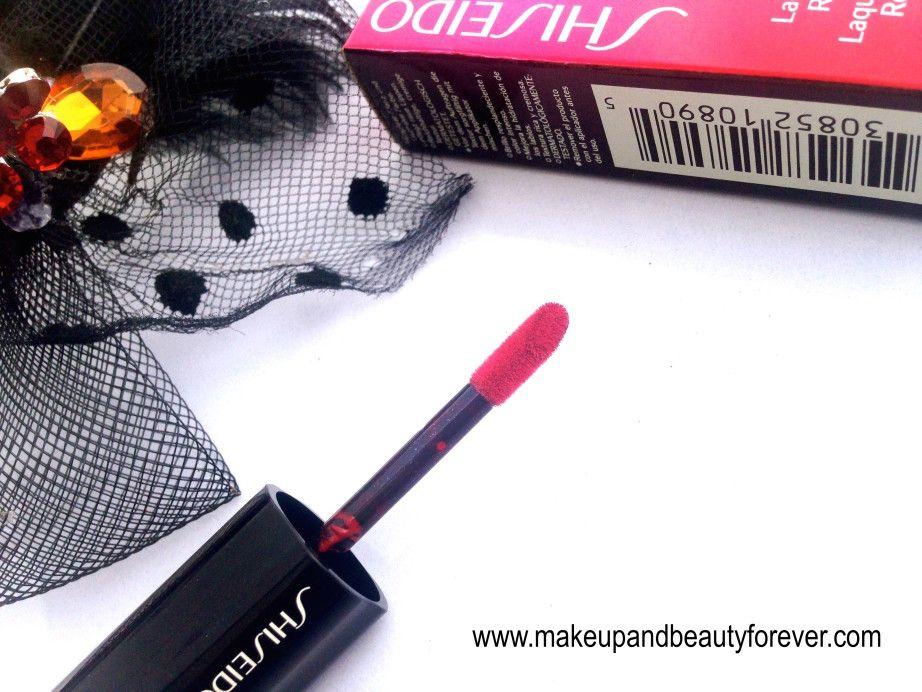 Shiseido Lacquer Rouge Liquid Lipstick Drama RD 501 Review