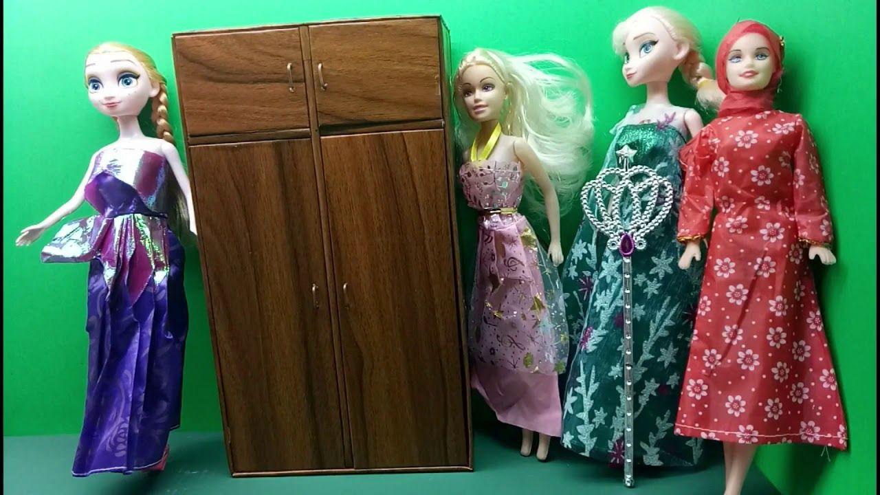 Cara Membuat Lemari Boneka Barbie Dari Kardus Kerajinan Tangan