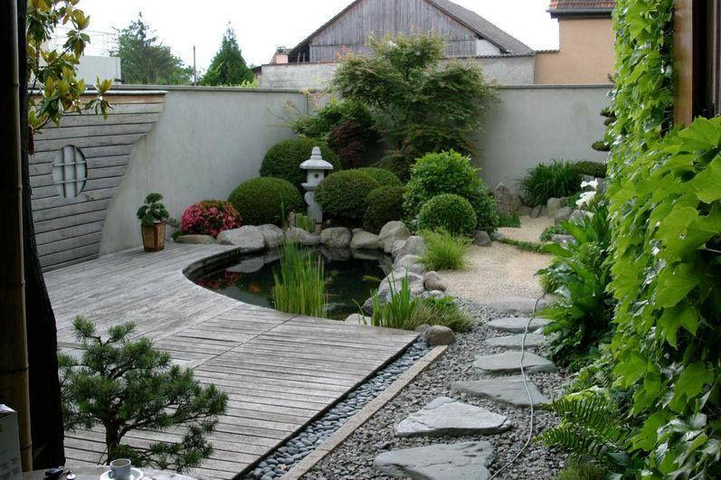Hardscape and pond jardin pond garden y water garden for Estanques japoneses jardin