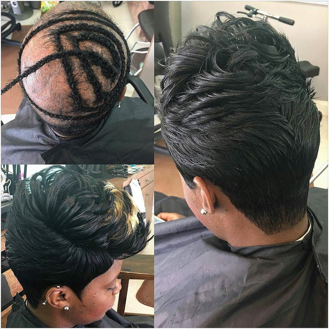 Instagram Photo By Premiereextensions Aug 5 2016 At 12 22pm Utc Short Quick Weave Hairstyles Quick Weave Hairstyles Hair Styles