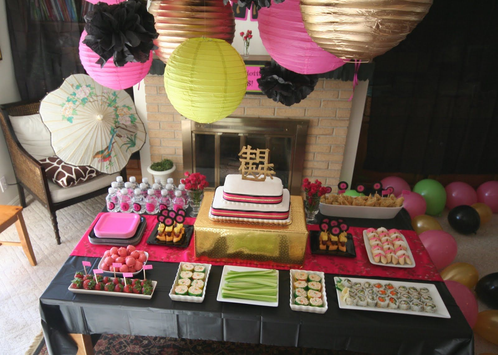 Adult birthday table decorations - Parties Food