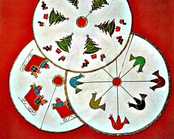 Snazzy Xmas Tree Skirt - Sewing Patterns Christmas Pinterest