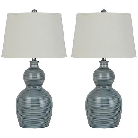 Orvis Stone Ceramic Table Lamp Set Of 2 7y639 Lamps Plus Table Lamp Sets Ceramic Table Lamps Table Lamp