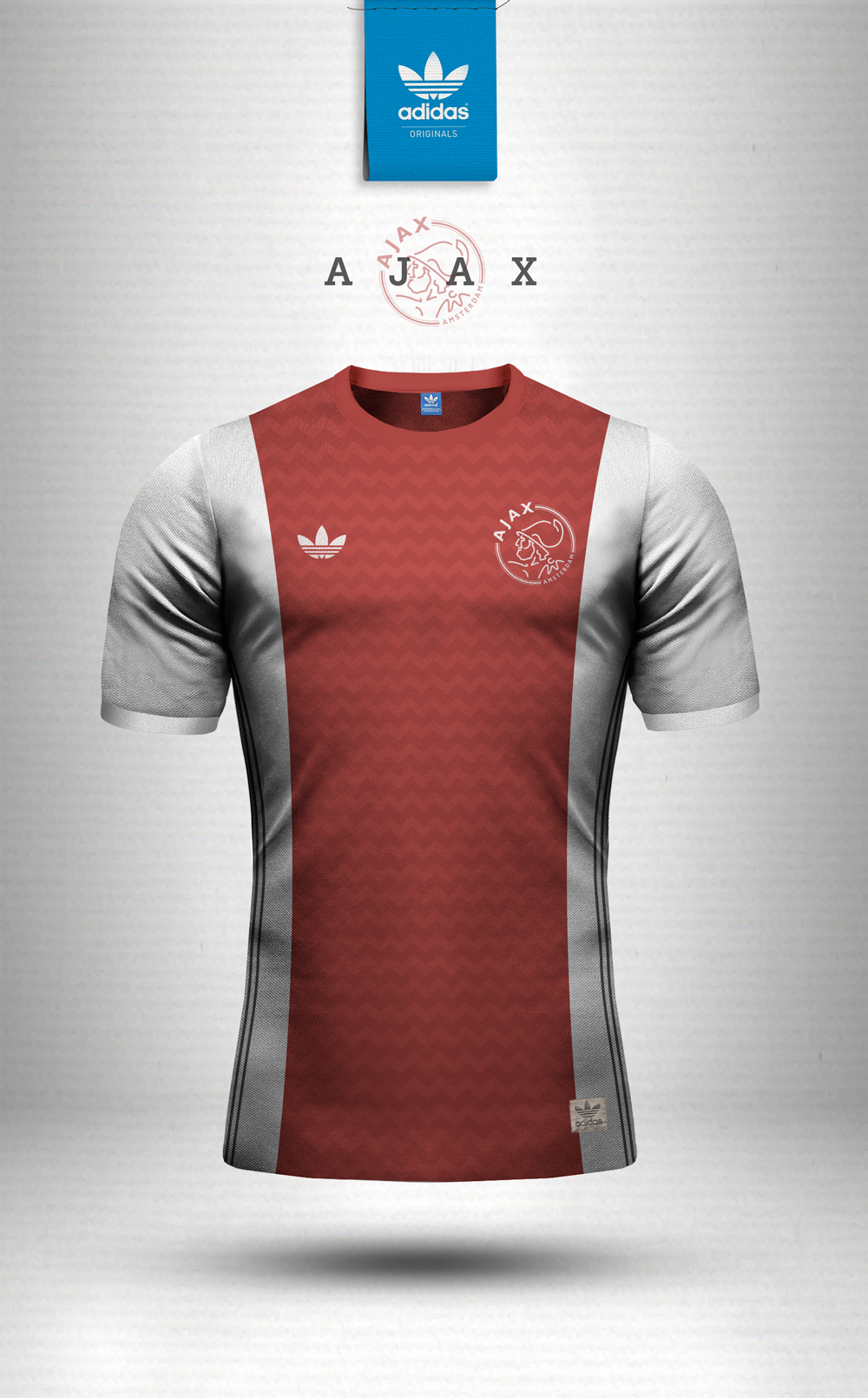 8981c7c25a8 Adidas Originals and Nike Sportswear jersey design concepts using geometric  patterns.