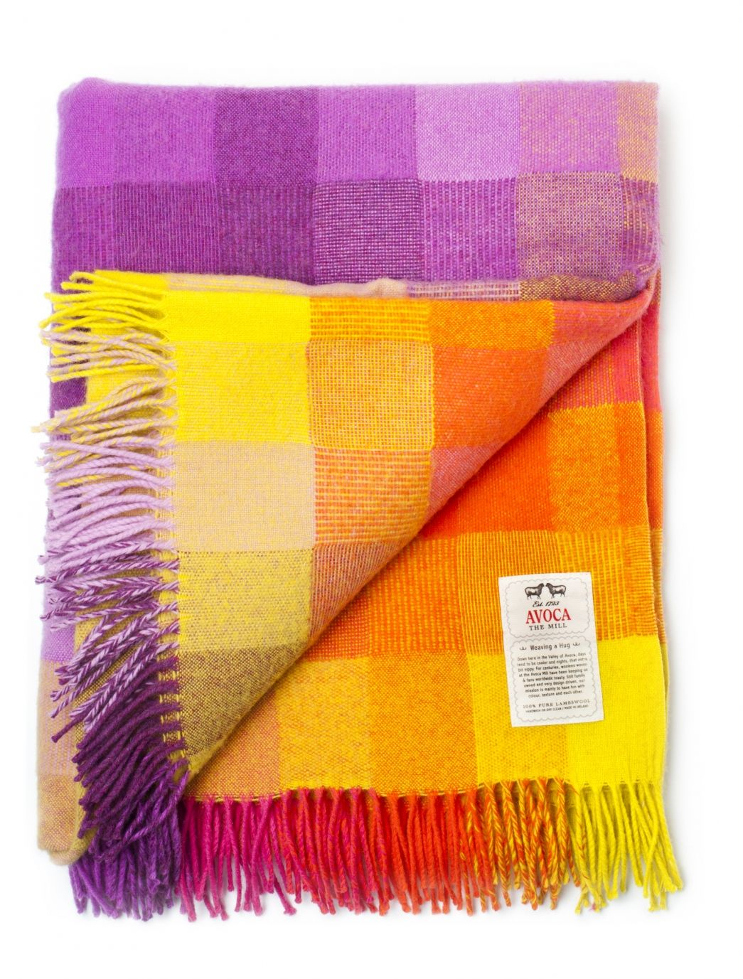 Choose a colorful Irish Lambswool Throw from Avoca. Original design woven with care to create a cosy bed or sofa throw for any home.  A Unique Gift For Home, Gift For Him, Gift For Her.  Avoca.com