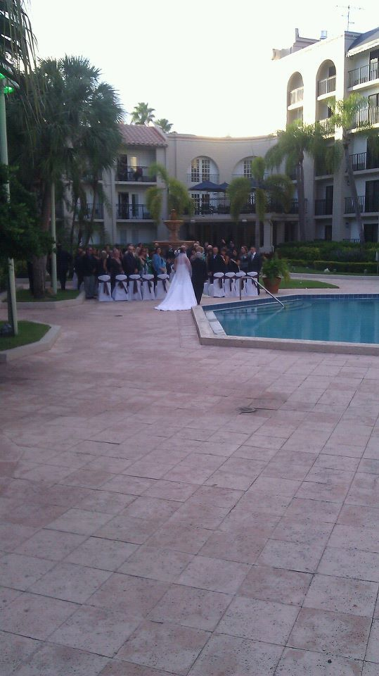 Another view of our courtyard ceremony