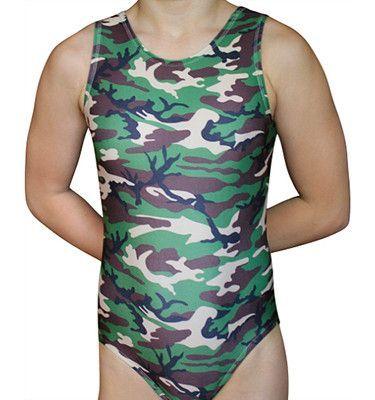 82b6fc258 Camouflage Leotard - Green