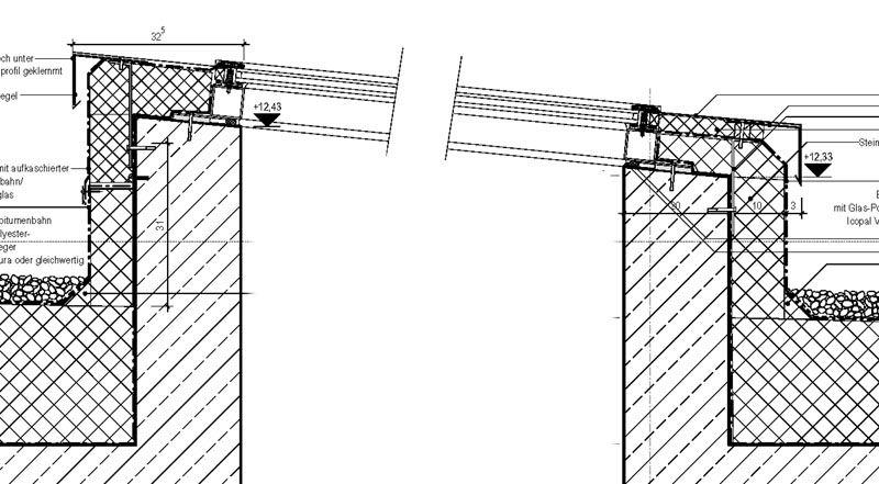 Oberlichter Flachdach 677d1187273615 total verzweifelt detail oberlichtes rande