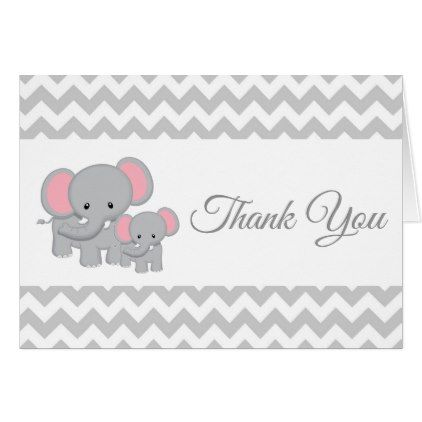 Elephant baby shower thank you card yellow gray baby gifts elephant baby shower thank you card yellow gray baby gifts child new born gift negle Image collections