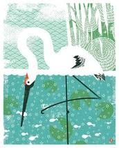 Whooping Crane Large Limited Edition Print by Zatista