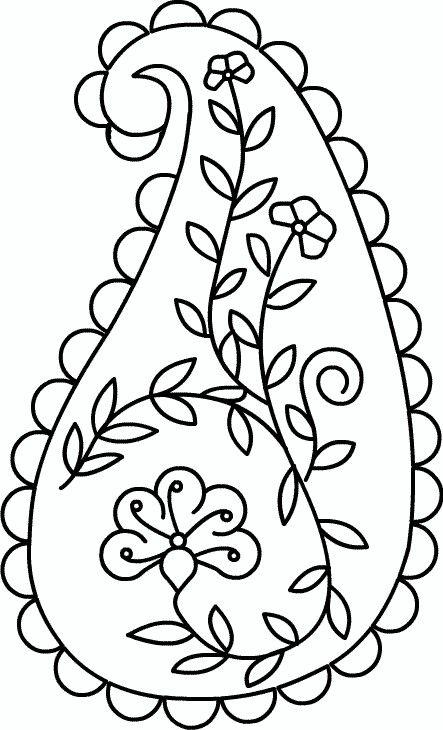 Paisley | patrones de bordado | Pinterest | Hoja, Bordado y Bordados ...