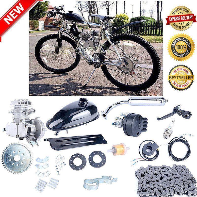 Plata 80cc 2 Tiempos Gas Motor Motor De Gasolina Kit Hagalo Usted