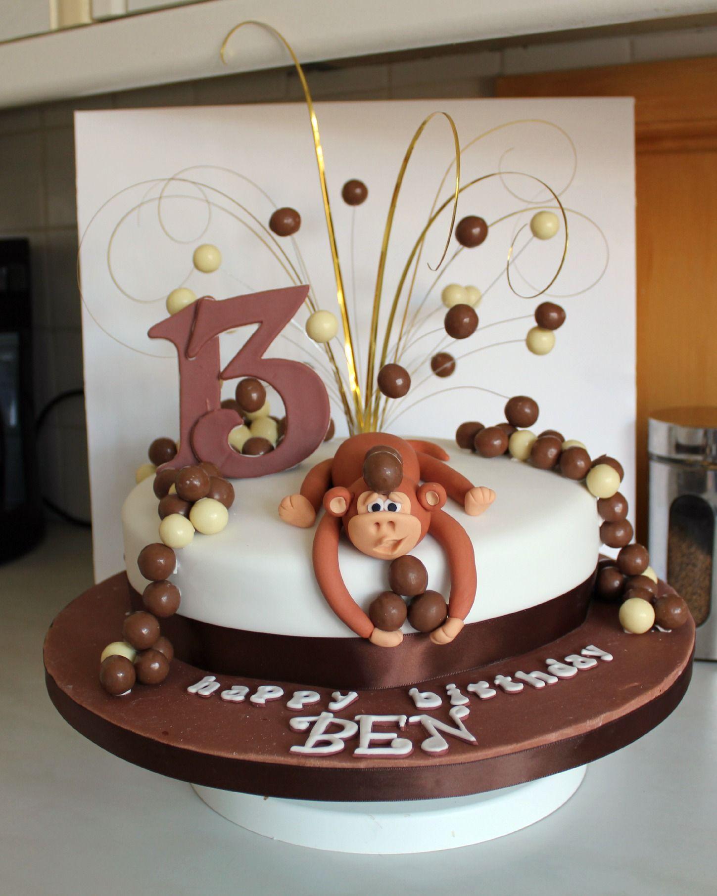 Monkey Birthday Cake With Maltesers Decorating Community