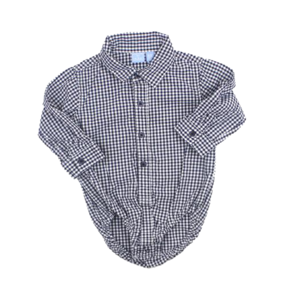 Baby Gap Infant Boys Classic Black And White Check Shirt Bodysuit Size 9 12 Months 4 50 Used Baby Clothes Onesies Baby Onepiece