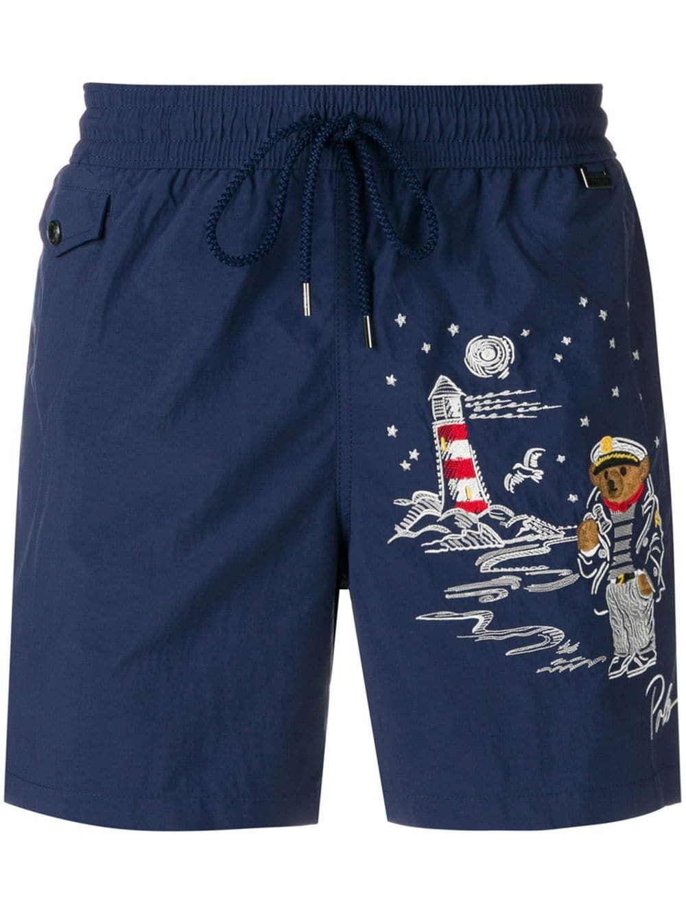 buy cheap to buy 100% top quality Polo Ralph Lauren sailor-motif shorts - Blue   Products in ...