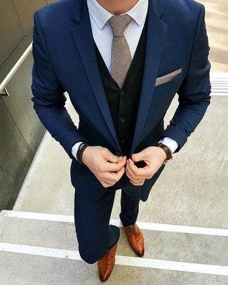 Combinar vestido azul oscuro hombre