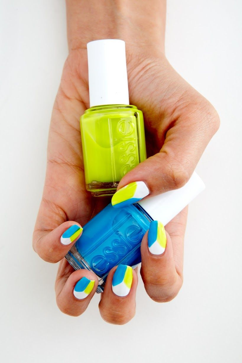DIY: Essie Beach Day Neon Nails - The Trendy Nail | Nails XIII ...
